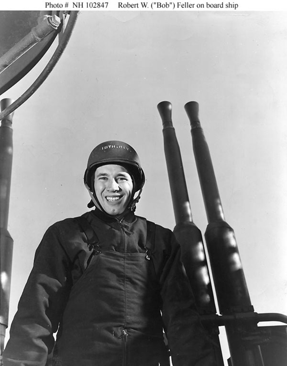 After serving four years in the Navy, Bob Feller returned to the Majors full-time in 1946 and turned in another standout performance from the mound.