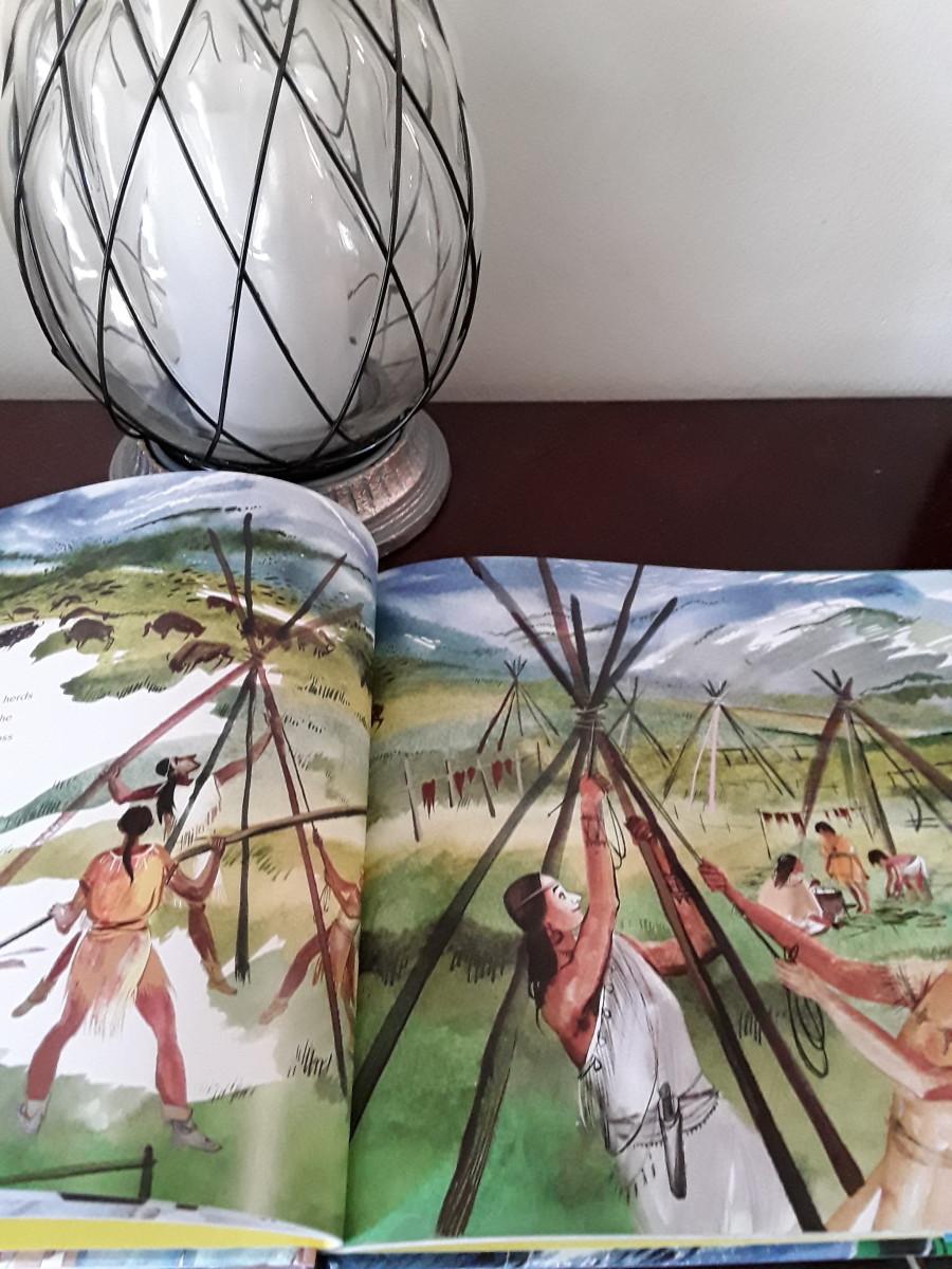 Native Americans settled in villages