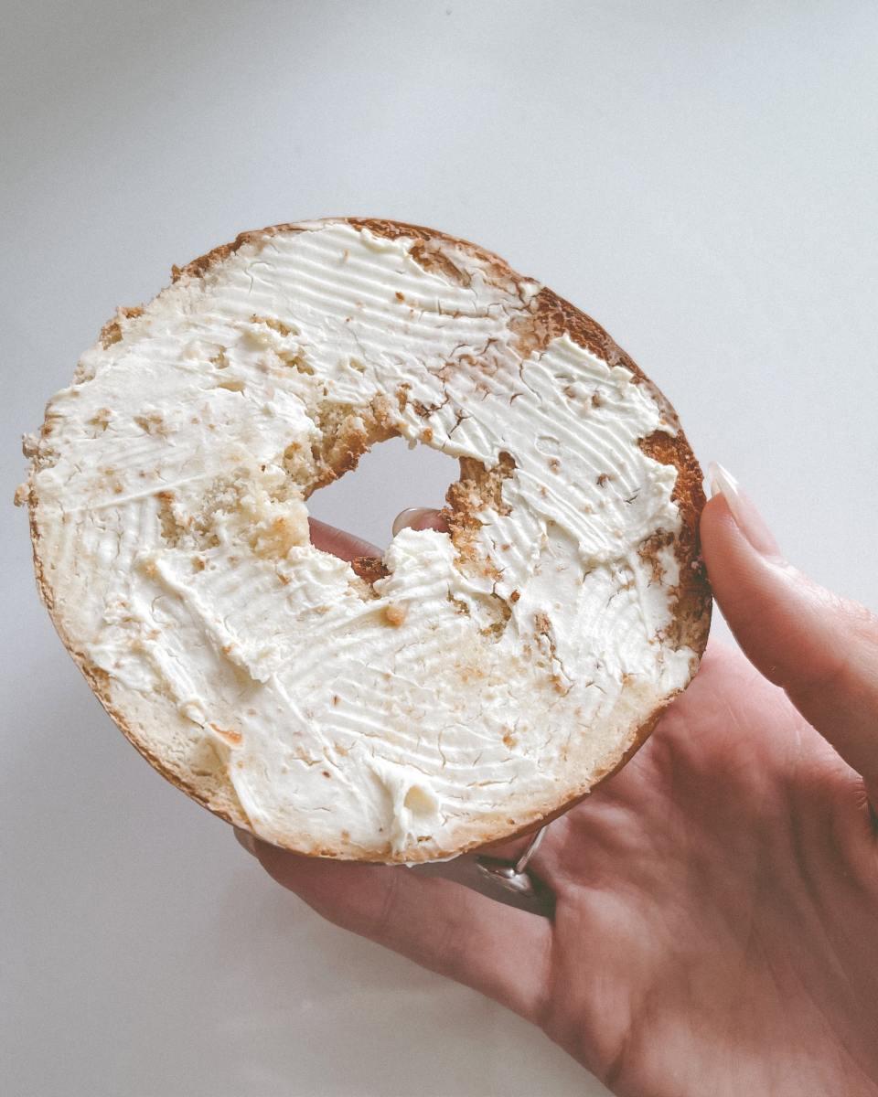 Should you slice bagels before or after freezing? I say after, to reduce freezer burn.