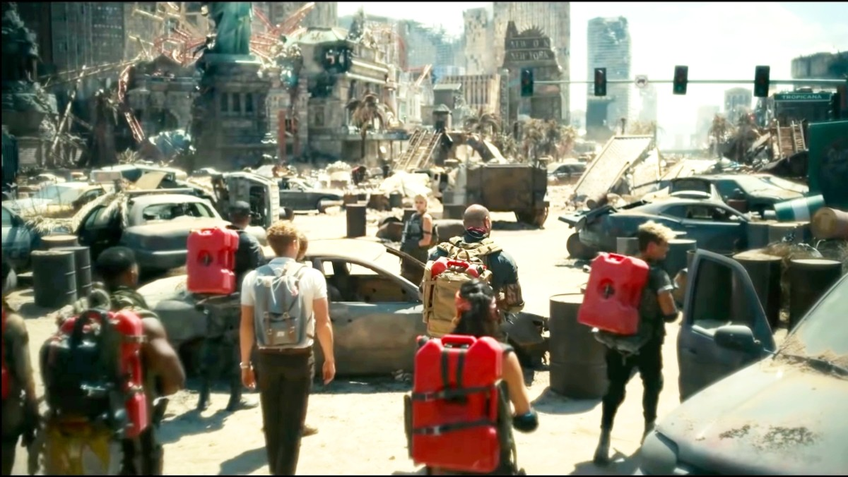 That whole team puts some things with them and move inside the Vegas through a container. There the zombies have destructed the whole city.