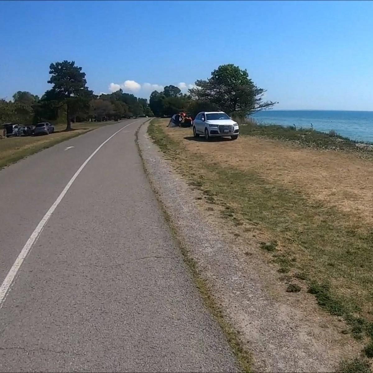 Recorded my bike ride around Presqu'ile provincial park with my new GoPro camera.