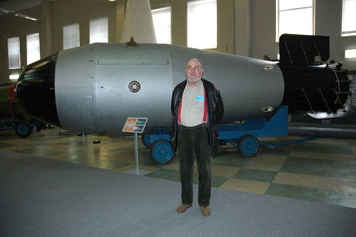 A replica of the Tsar Bomba in a Russian museum.