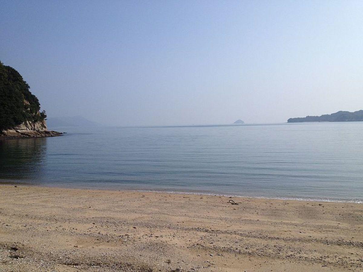 Beach in the southeast of Innoshima, Hiroshima prefecture.