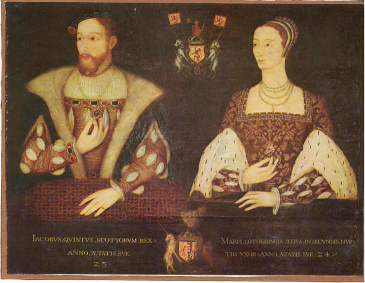 Mary, Queen of Scots parents James V of Scotland and Mary of Guise.