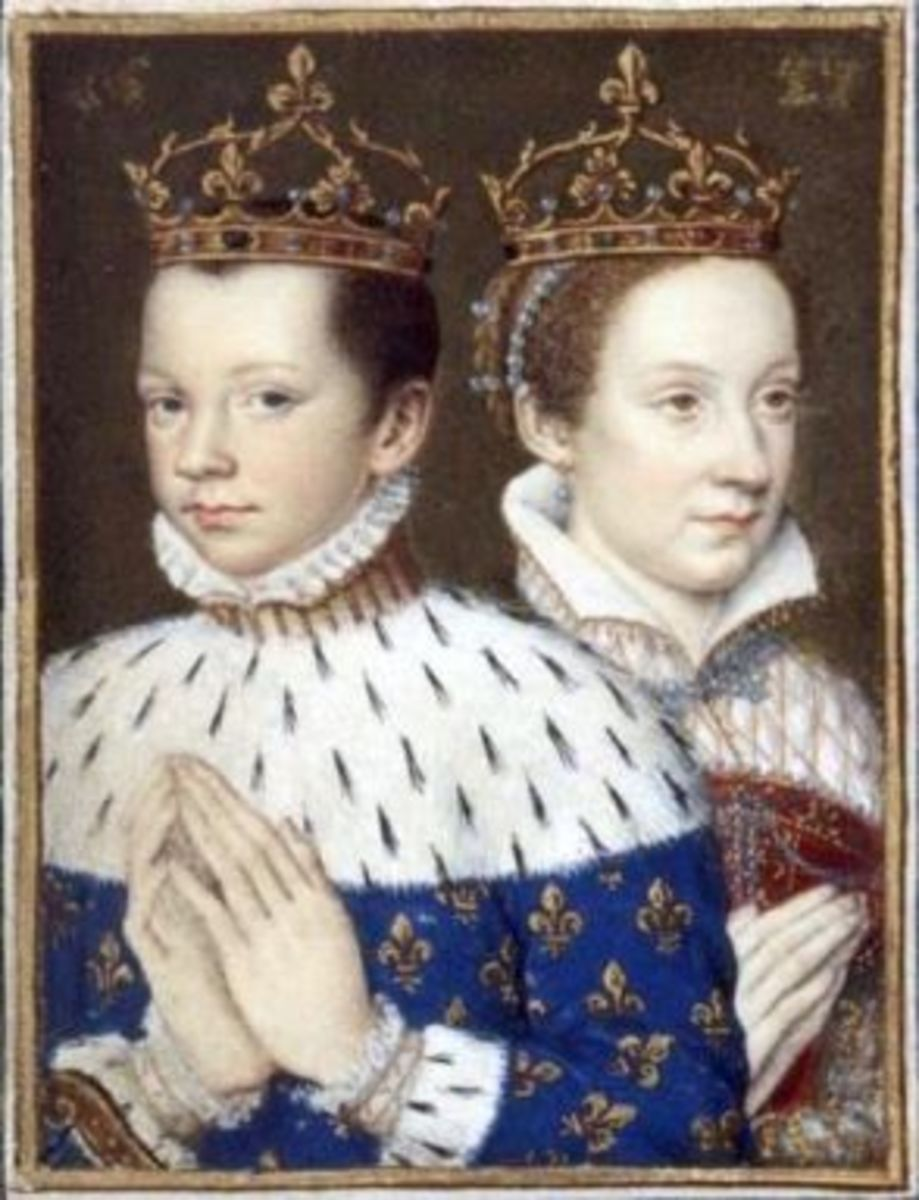 Mary, Queen of Scots and her first husband Francois II of France.