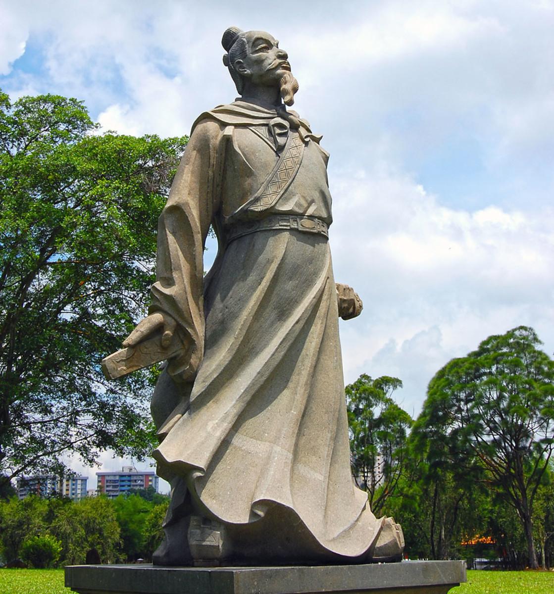 Statue of Qu Yuan in Singapore.