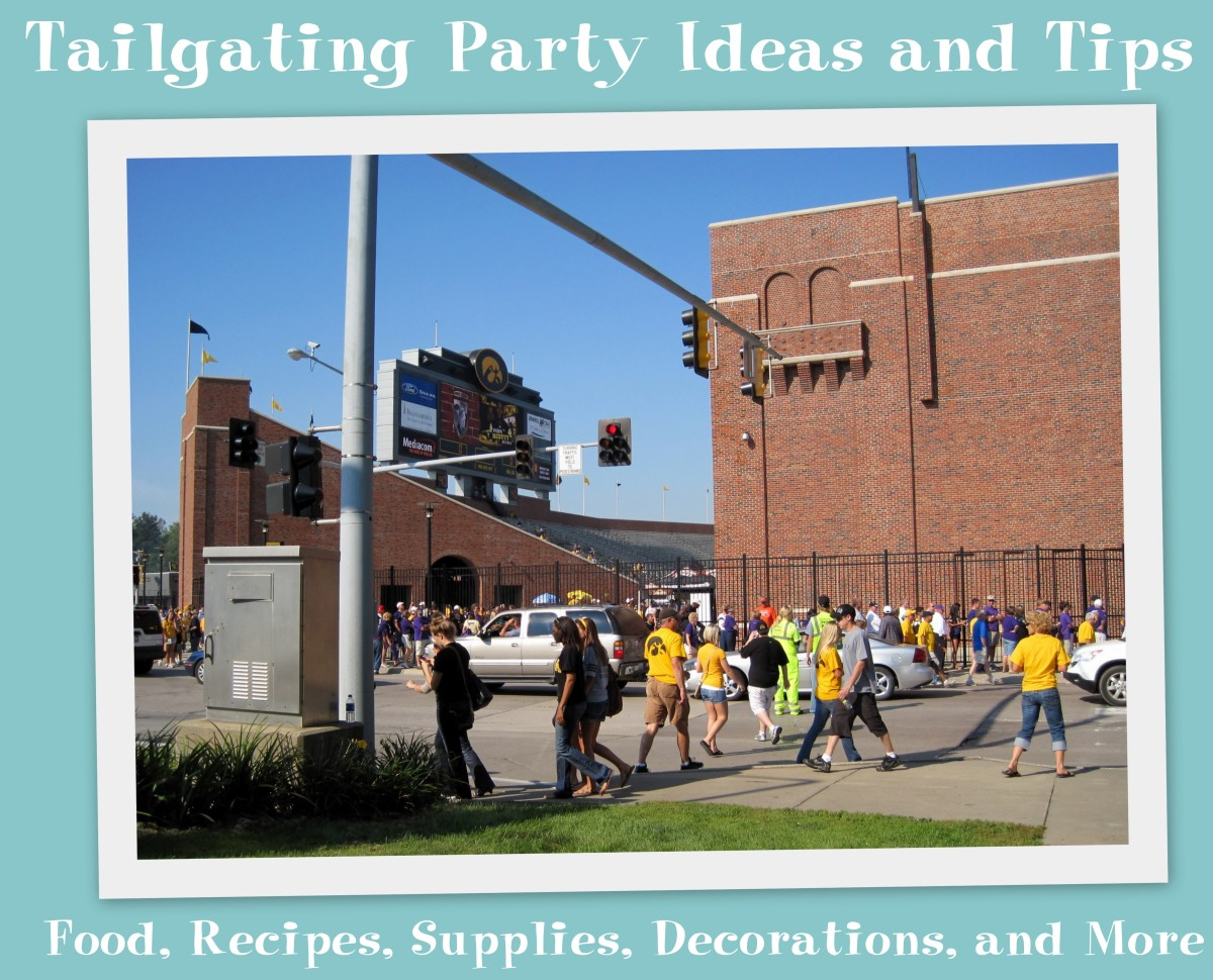 The University of Iowa Stadium before a football game, Labor Day 2009. This is an excellent location for tailgating.