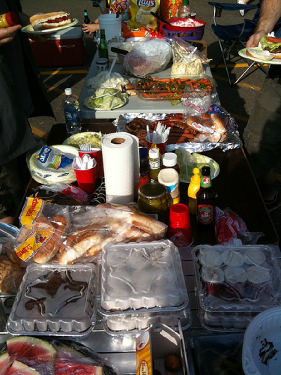 If space allows, create a serving area for food so everyone can help themselves easily.