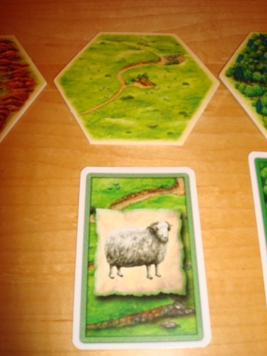 Resource Hex and Card - Sheep