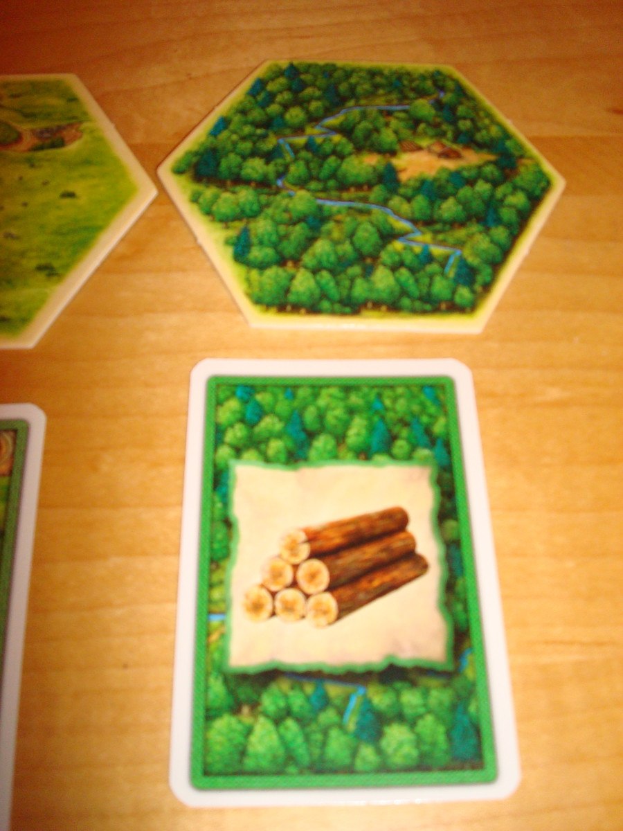 Resource Hex and Card - Wood