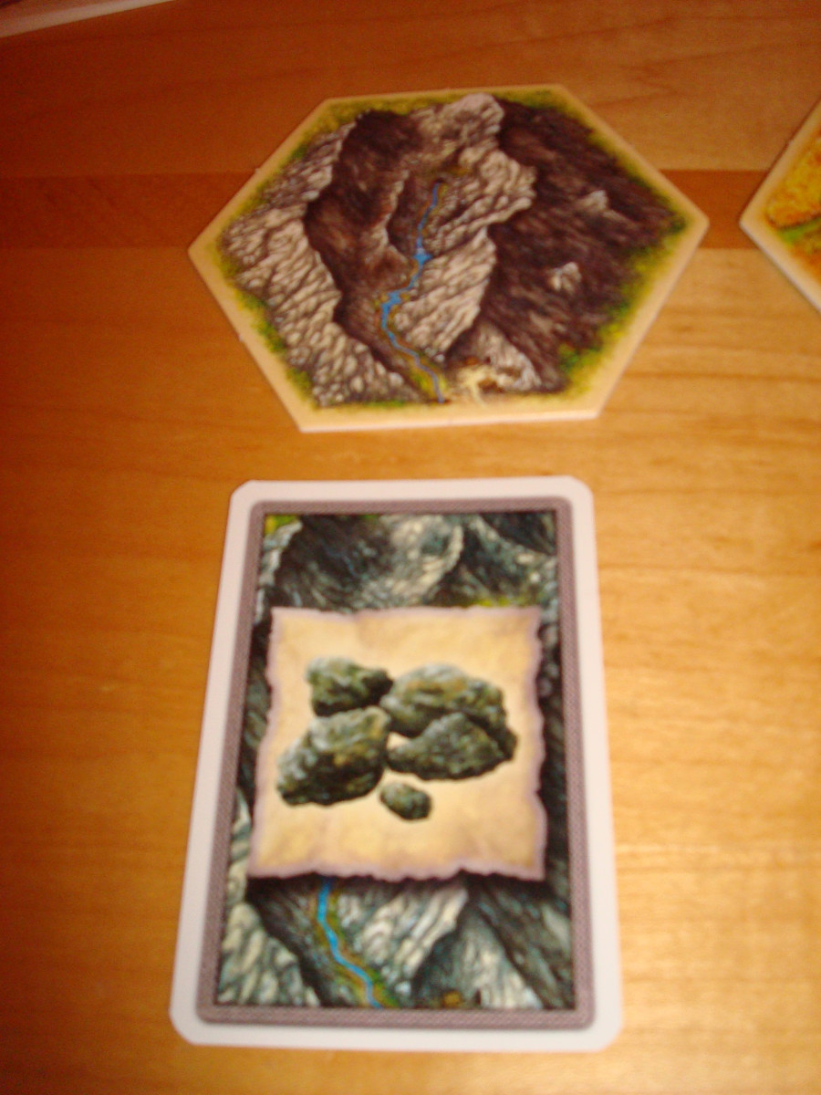 Resource Hex and Card - Rock