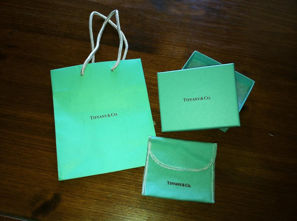 Tiffany Blue on packaing from Tiffany & Co.