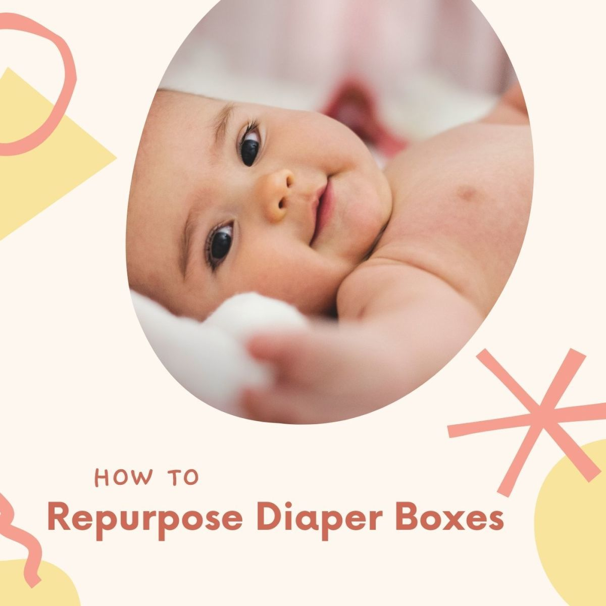 Turn an empty diaper box into a functional storage bin.