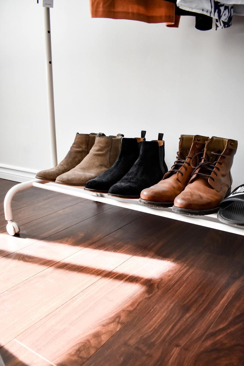 Shoe racks are a lifesaver.