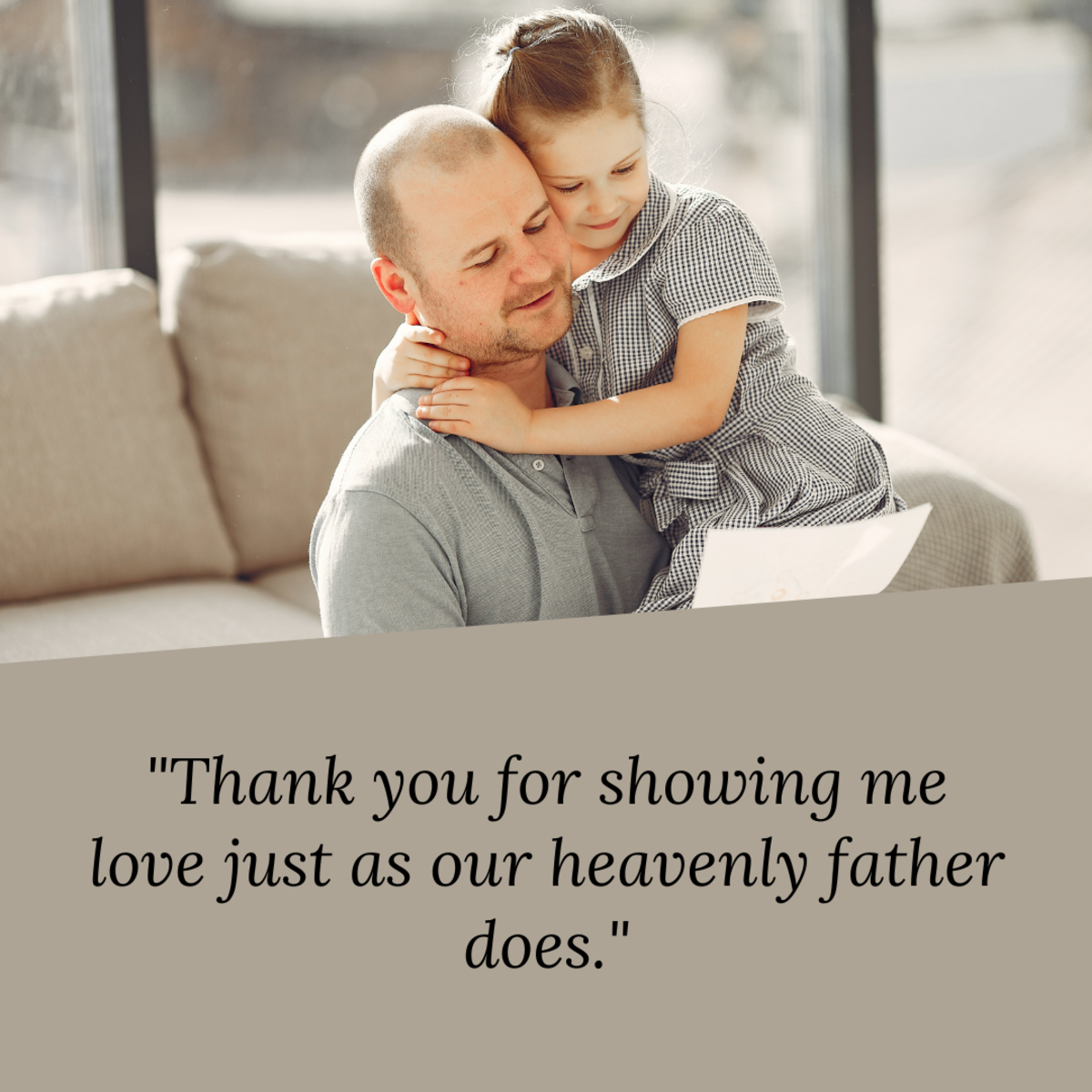 If your father is Christian, he may appreciate a sentimental religious message for Father's Day.
