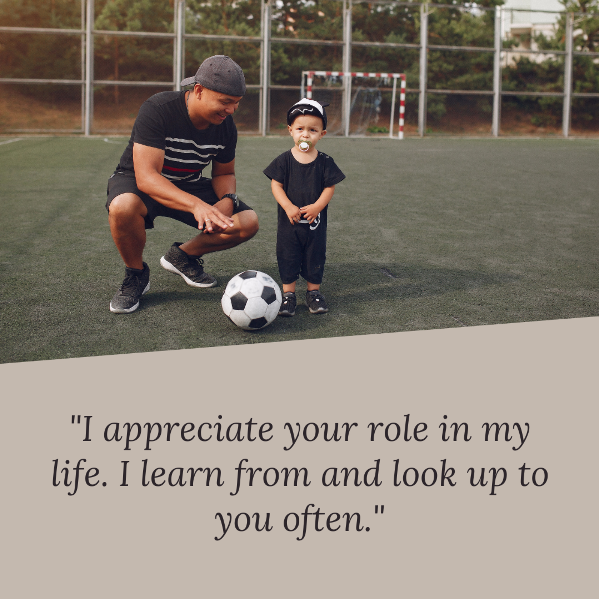 Show your stepfather some appreciation if he has taken on an important role in your life.