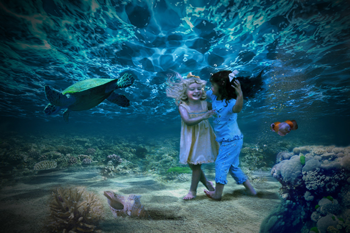 Ocean-bottom Pixies, my digital photo manipulation