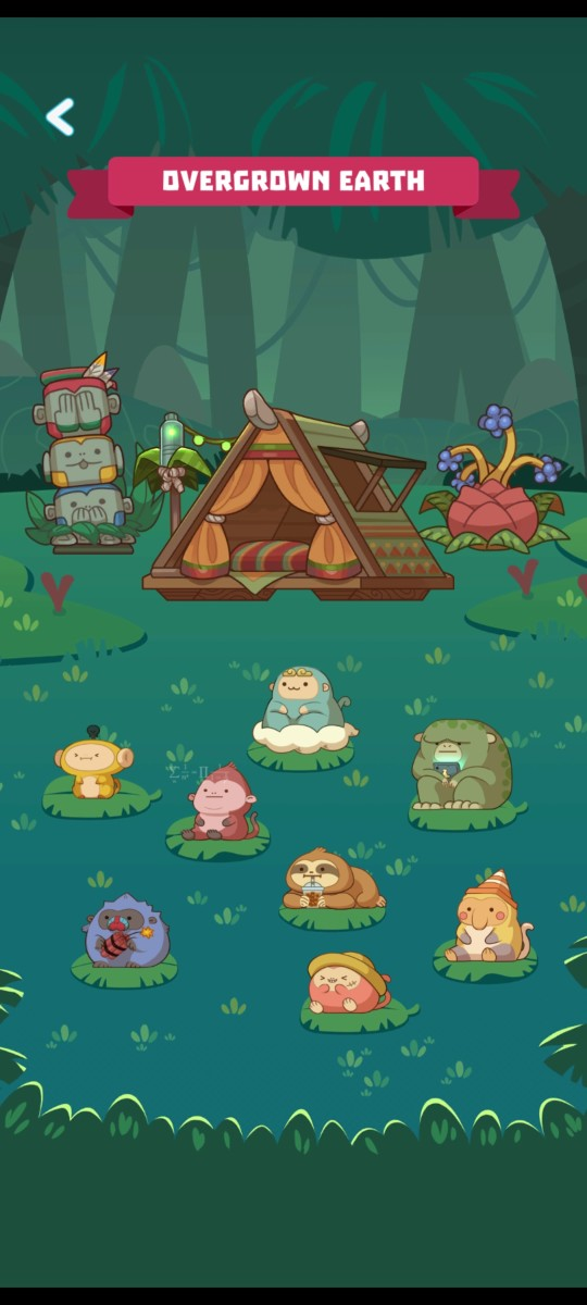 Screenshots of the previous habitats
