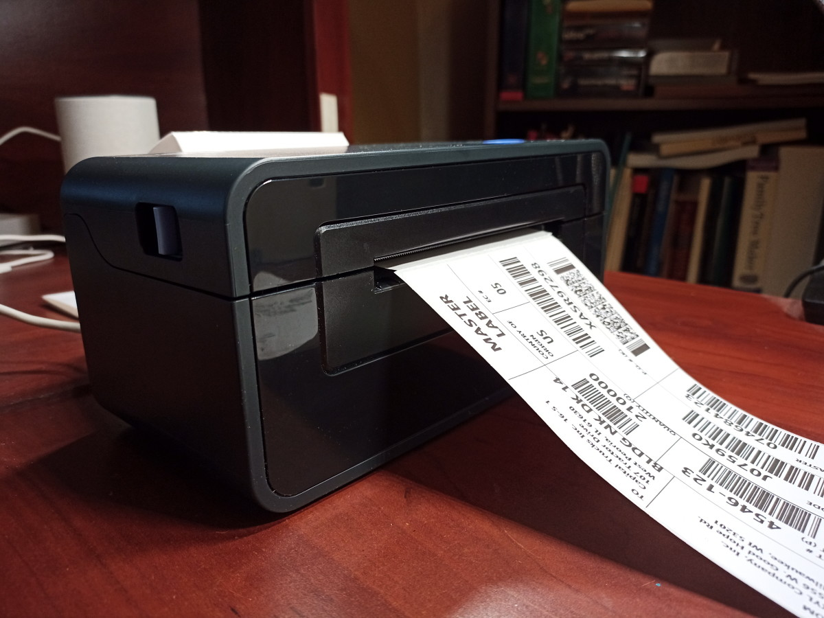 Printing 4 x 6 inch sticky labels