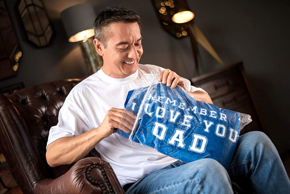 This ultrasoft blanket is a perfect gift for dad who is hard to shop for