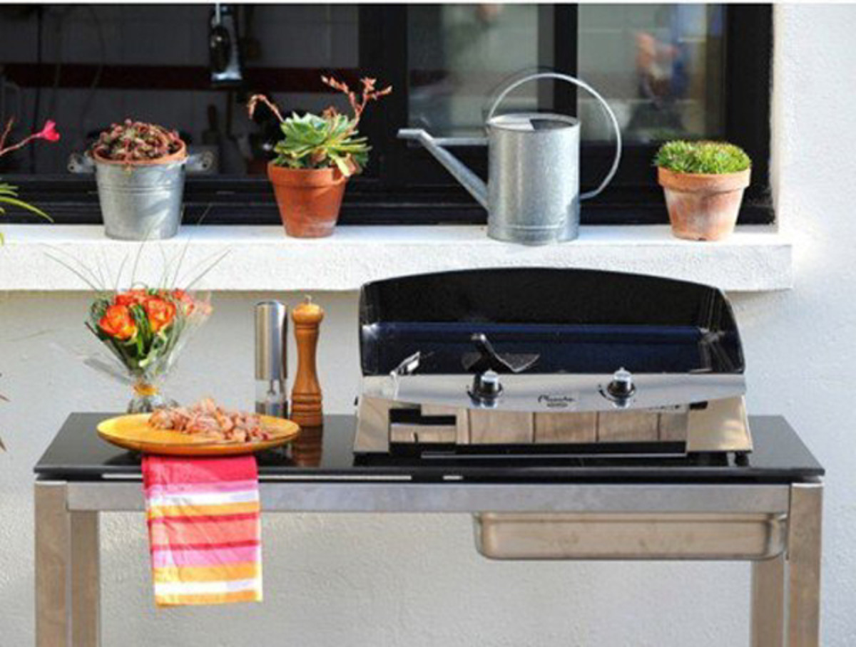 A portable grill is perfect for weekend tailgating or a dinner party on the patio.