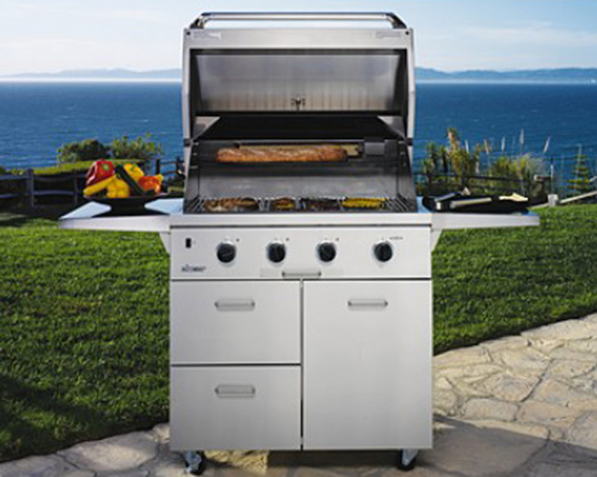 A gas grill will save you grilling time.
