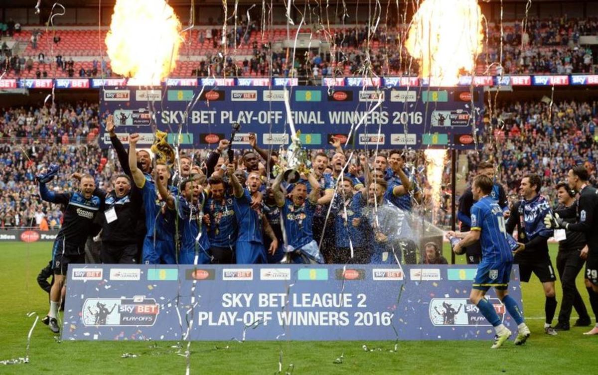 AFC Wimbledon's League Two playoff win.
