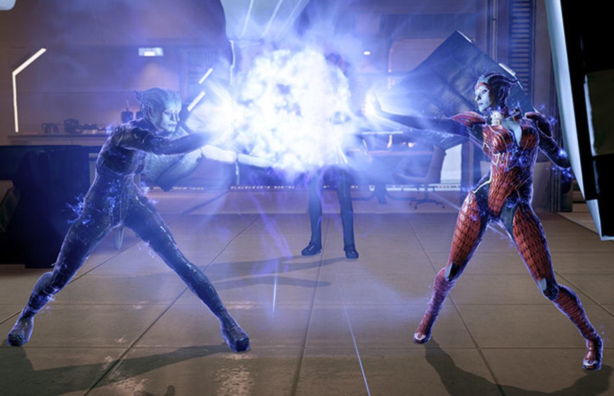 Samara and Morinth force Shepard to choose.