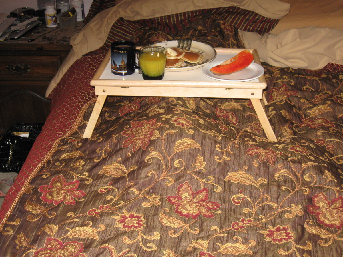 A Slice of Papaya with Breakfast in bed for my wife
