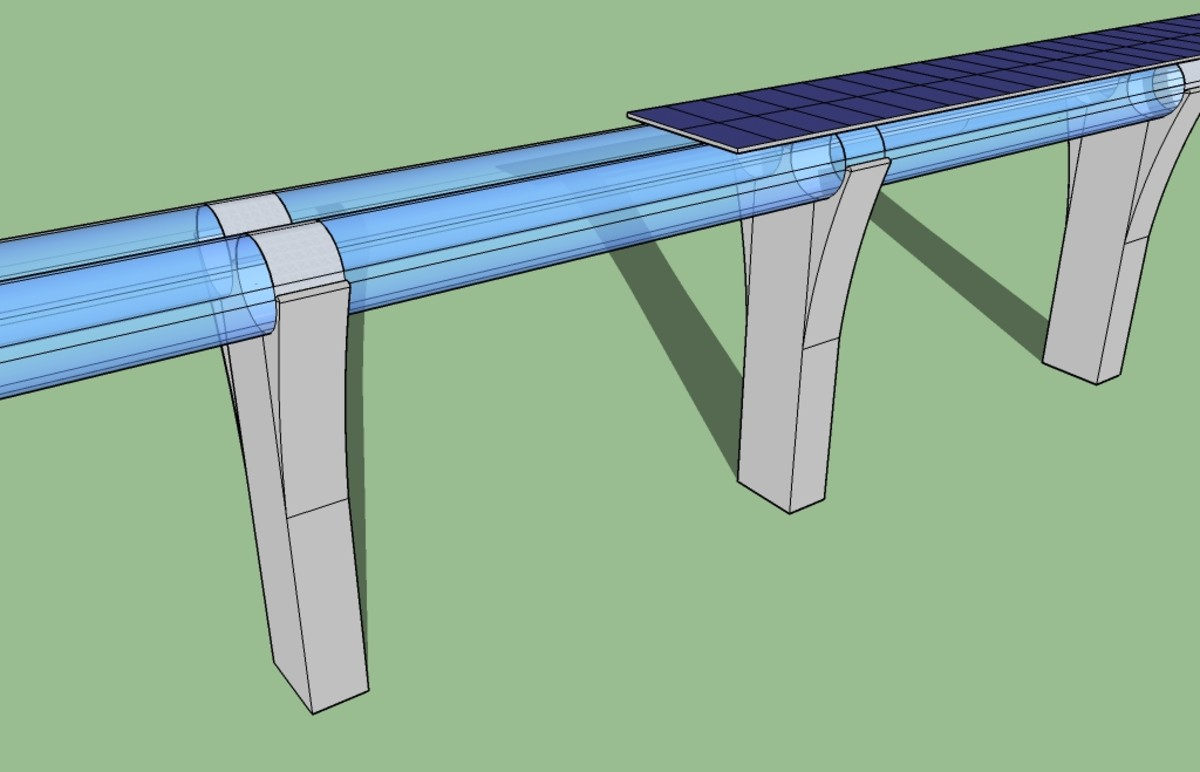 A 3D Structure of Hyperloop Tunnel