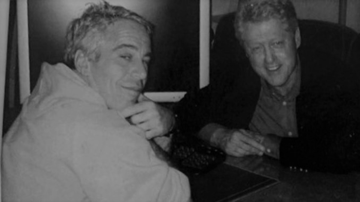 Jeffrey Epstein and Bill Clinton. Since Clinton flew on his plane multiple times, a photo with Epstein is not uncommon