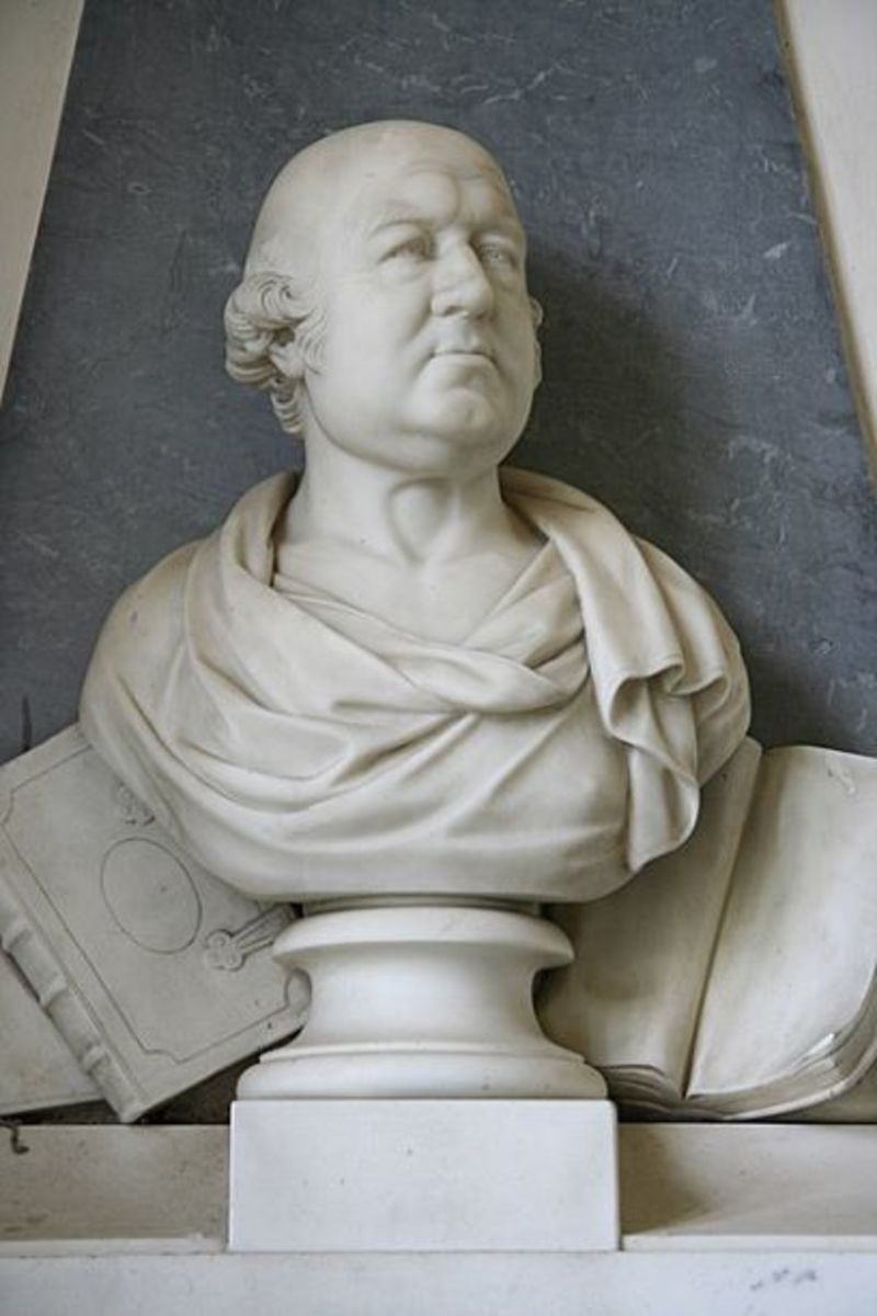 A bust of Dr. Francis Willis (1718-1807.) He was George III's primary physician during his 1788-1789 illness.