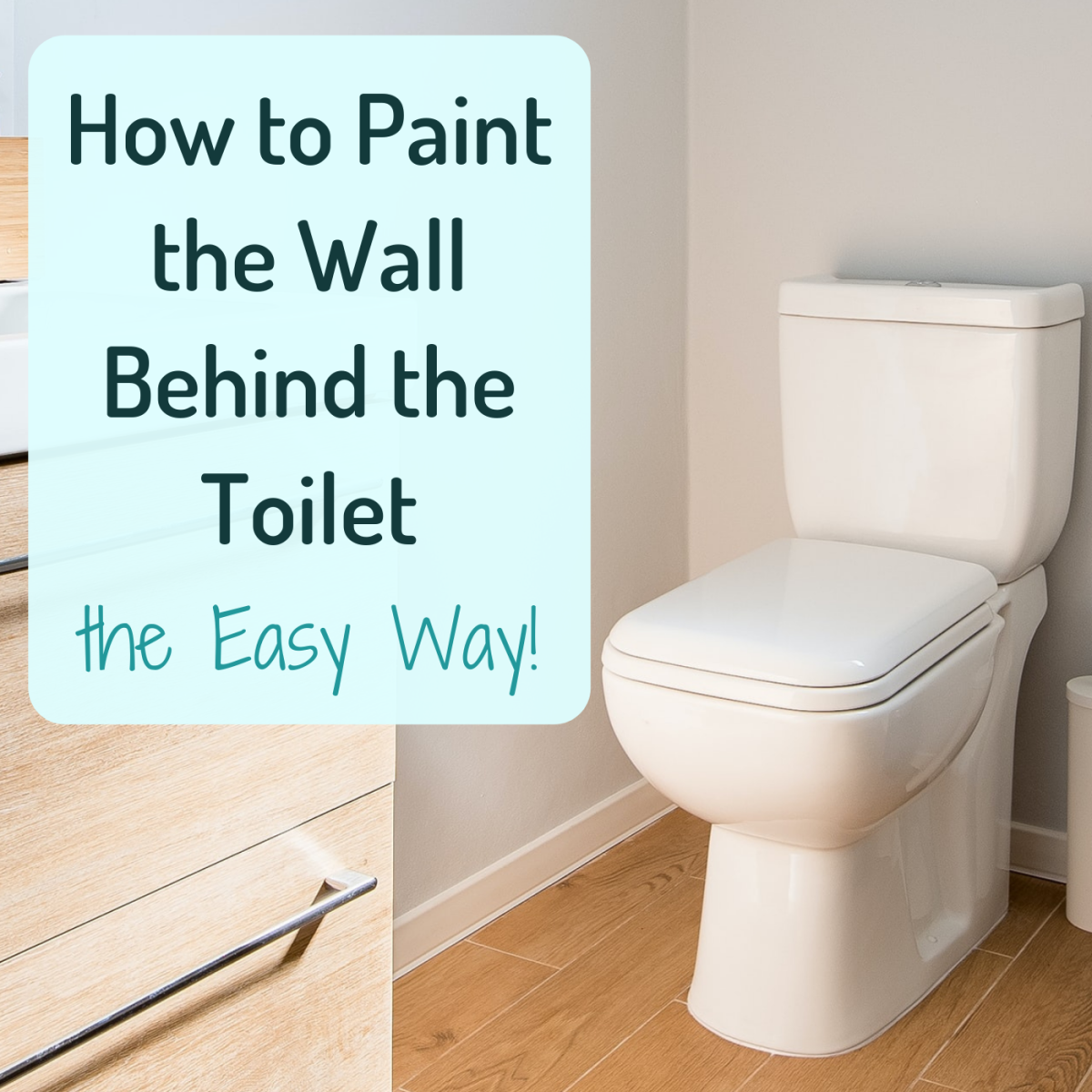 Need to paint that hard-to-reach wall behind your toilet tank? Learn how to do it the easy way!