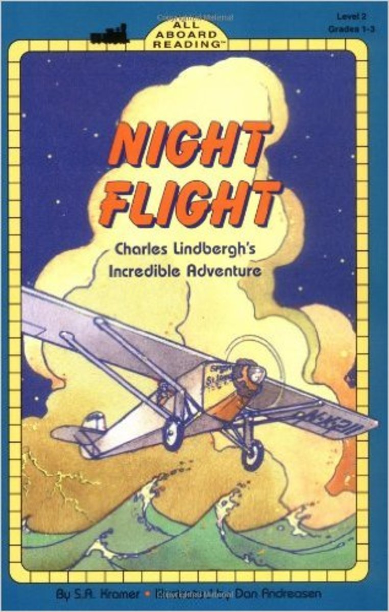 Night Flight: Charles Lindbergh's Incredible Adventure (All Aboard Reading) by S. A. Kramer