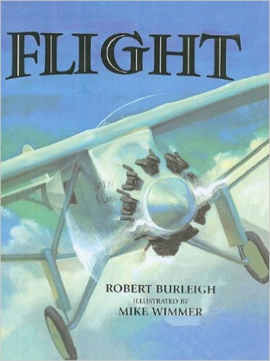 Flight: The Journey of Charles Lindbergh by Robert Burleigh - All images are from amazon.com.