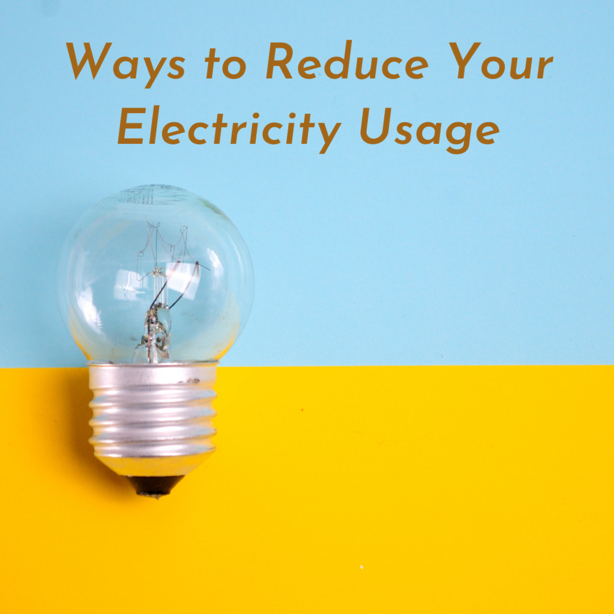 Ways you can use less electricity