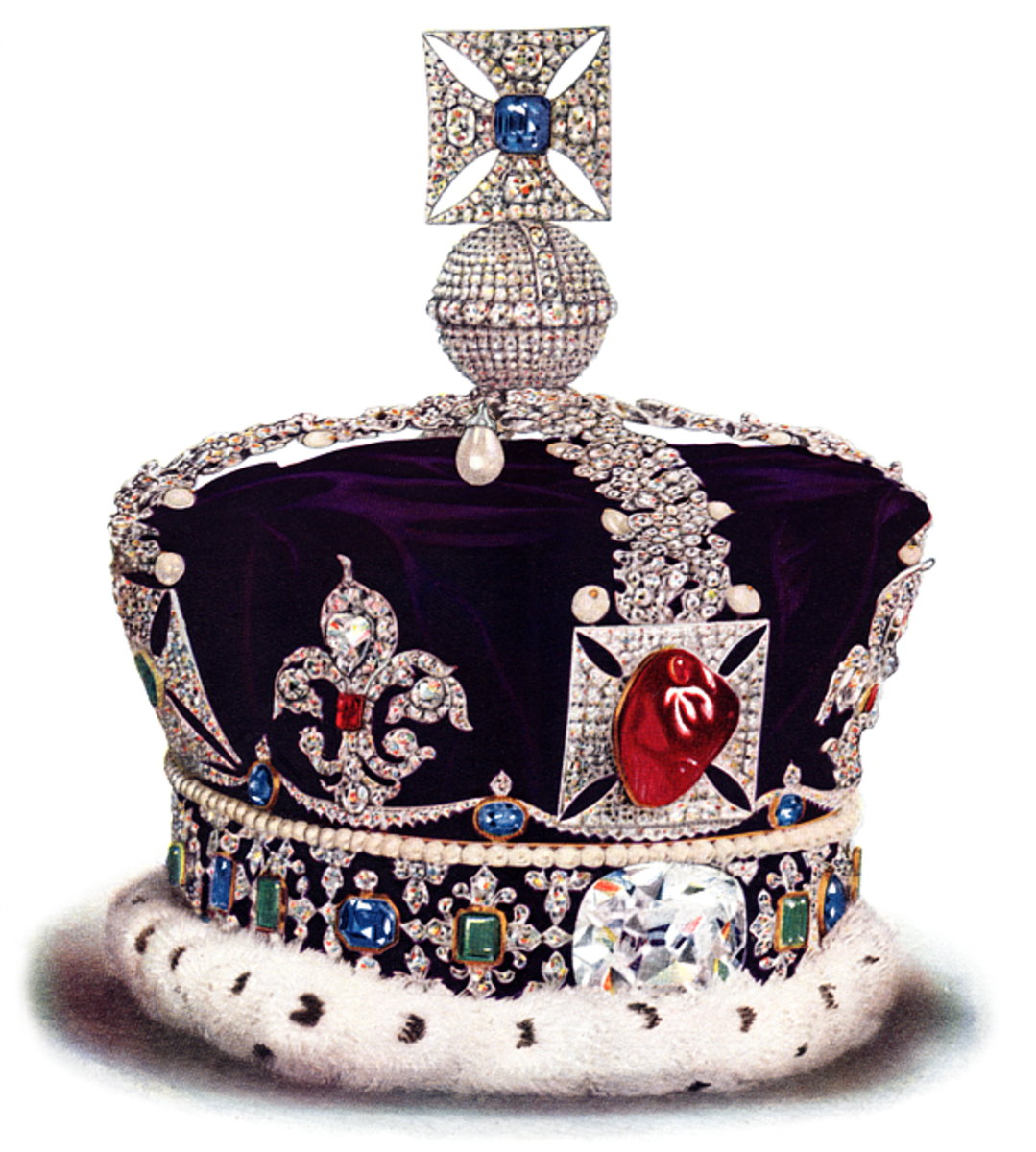 The front of the British Imperial State Crown.