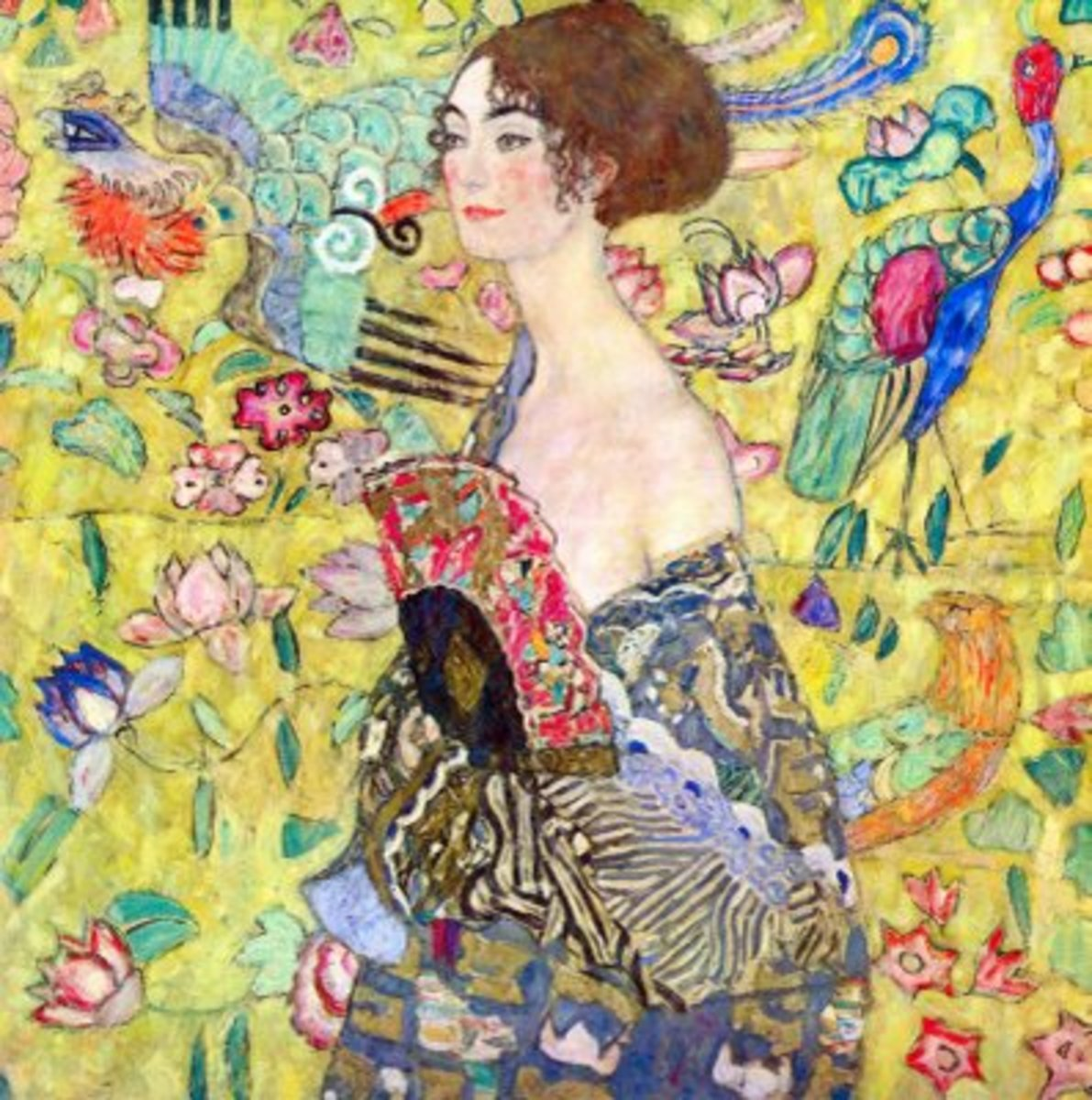 Gustav Klimt, Lady with Fan