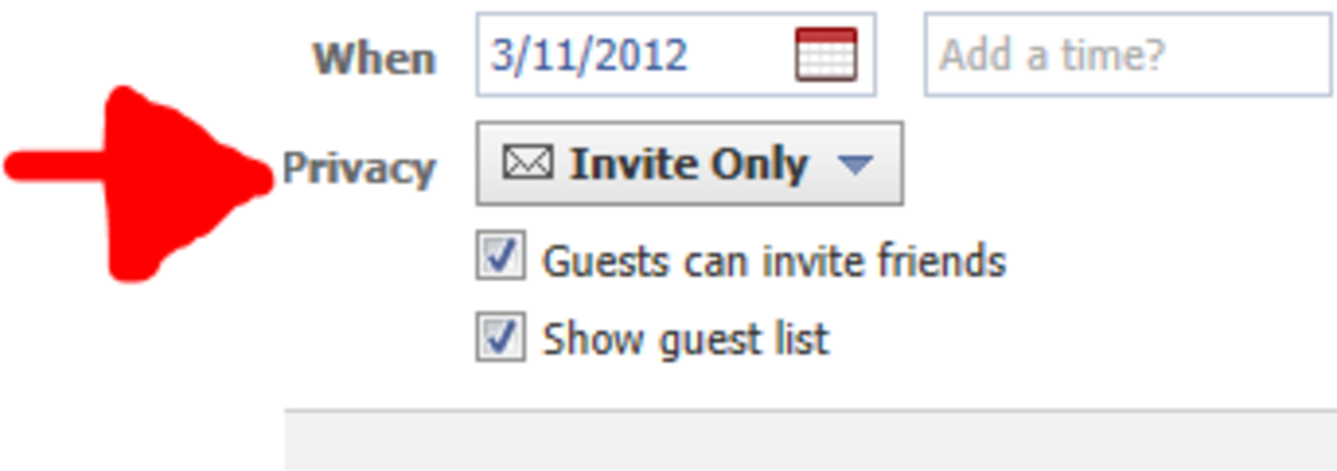 Invite Only Options.