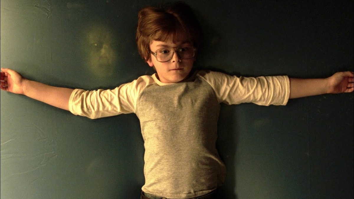 Little 8 year old David moments before he is possessed and cursed.