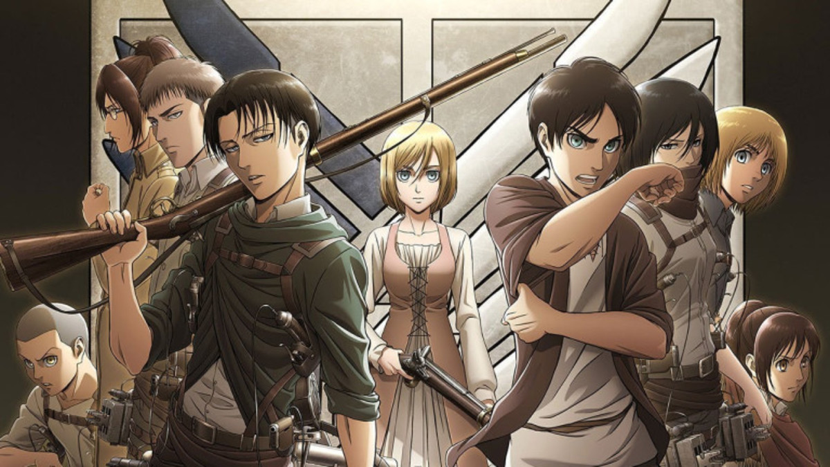 A group image of our main cast foreshadowing Historia new role.