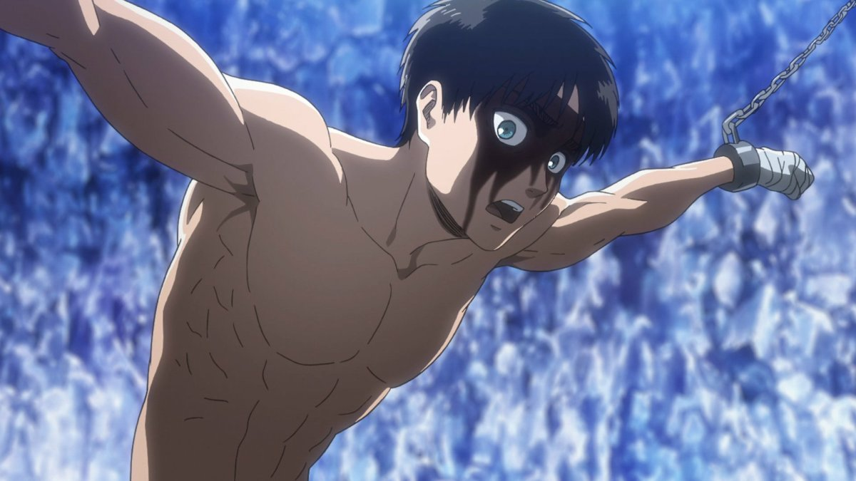 I don't which is kinkier out of context. Eren being chained up, or the fact that he was going to be eaten alive. Or maybe it's both...