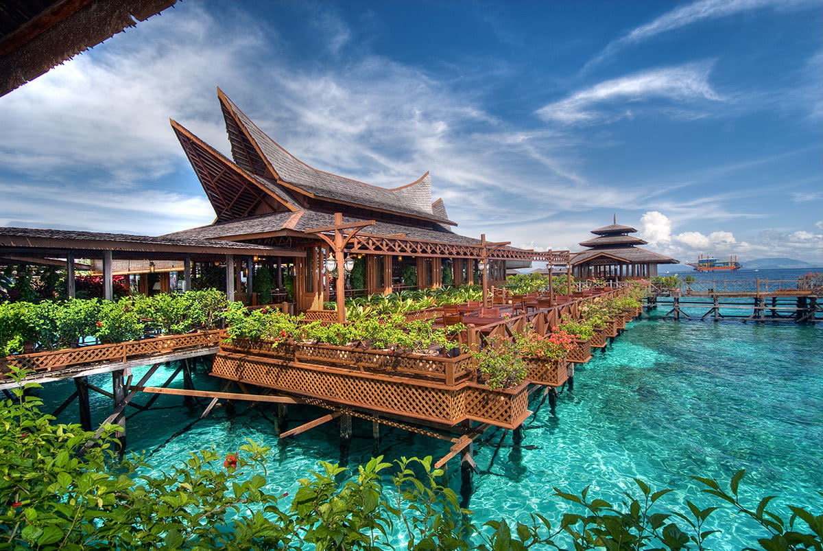 Resort located in one of Sabah famous island 'Mabul'