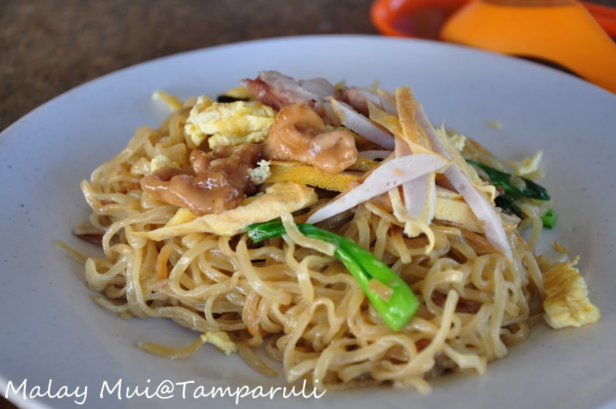 Tamparuli mee served in traditional way