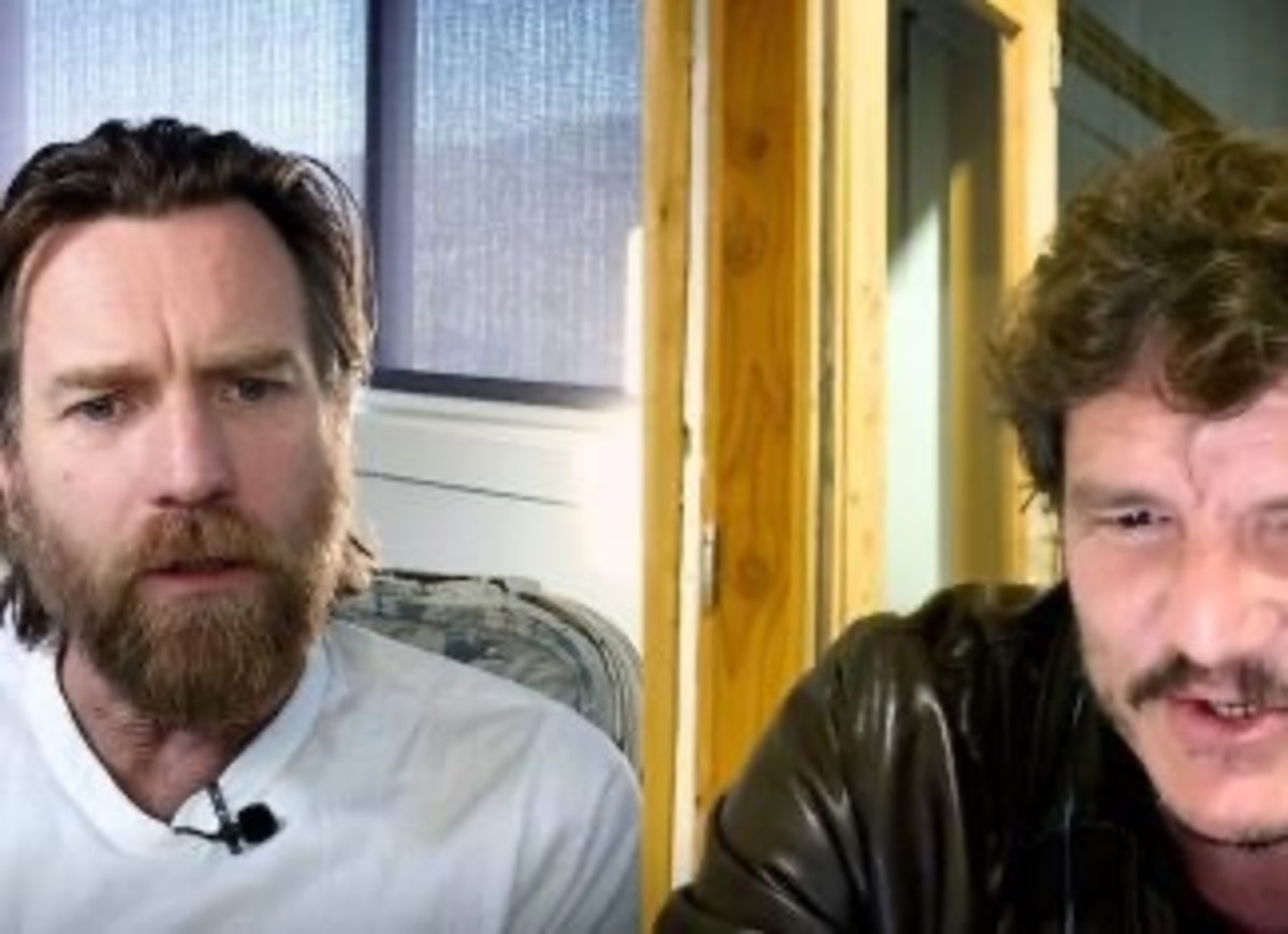 Ewan McGregor reacts to a comment made by Pedro Pascal.