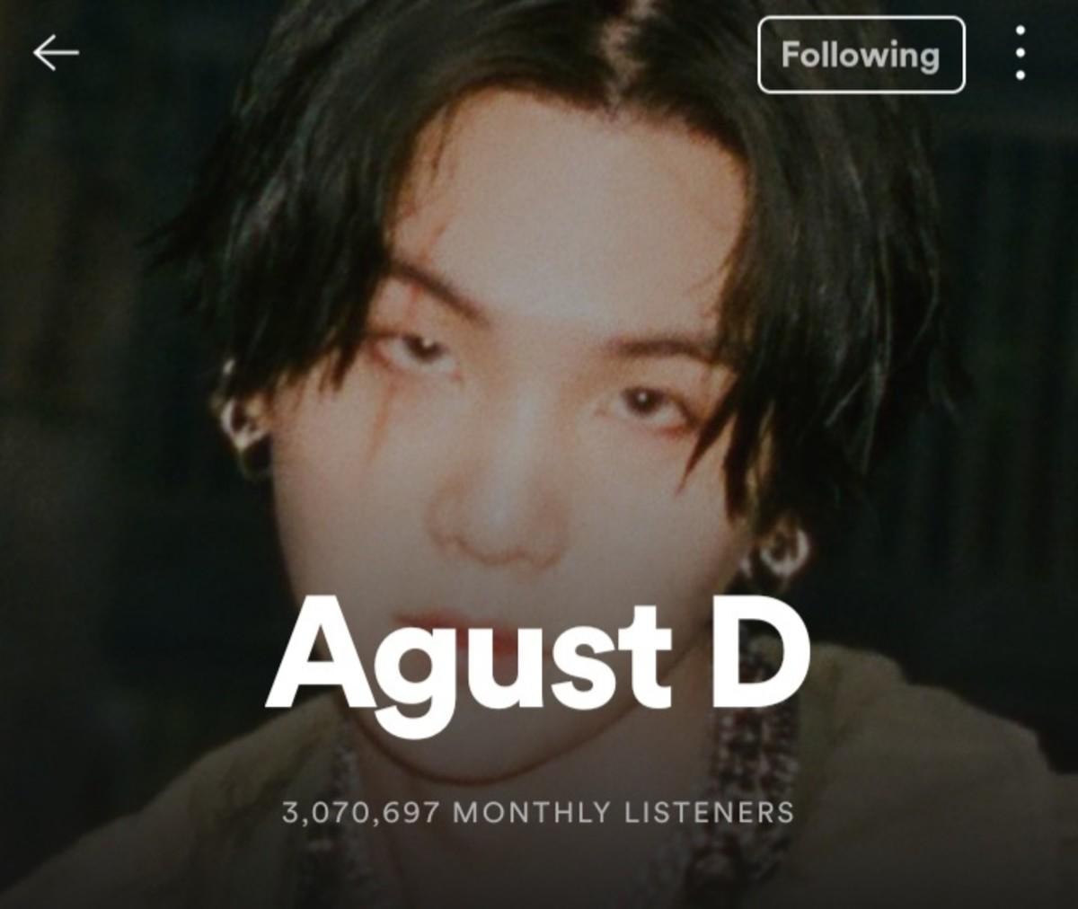 Agust D Spotify