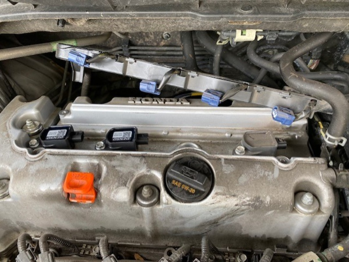 View of the exposed ignition coils