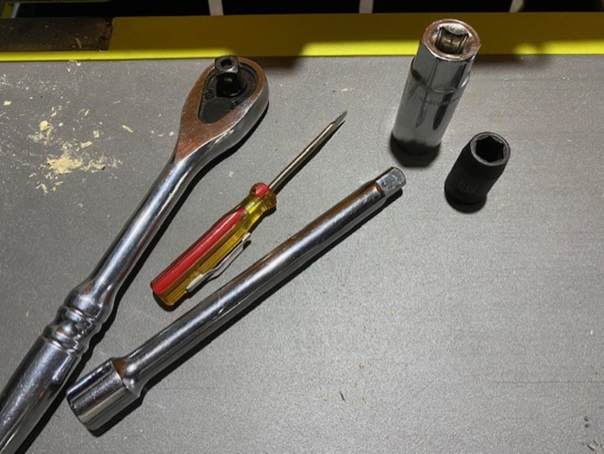 Tools Required (spark plug gap tool not shown)