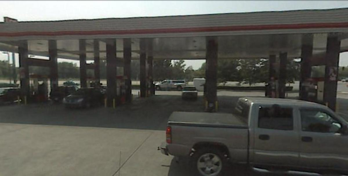 Eight double-sided pump stations allow for sixteen cars at a time to be refueled. All are self service and pumps will accept credit or debit cards. On my last visit, QT provided free air and water.