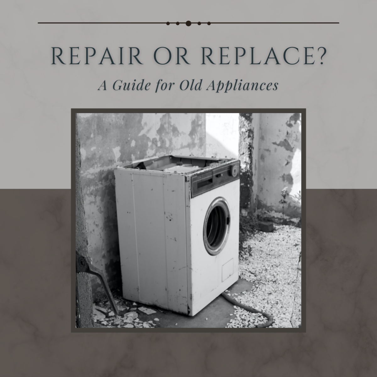 This guide will help you determine whether to repair or replace your old appliance.